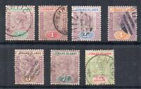 Leeward Islands 1890 values to 1s SG 1-7 mainly FU CDS