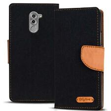 Handy Hülle Honor 6X Tasche Wallet Flip Case Schutz Hülle Stoff Cover