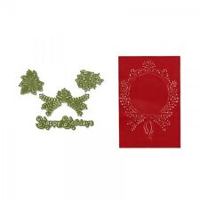 Sizzix Framelits Die Set 4PK w/Textured Impressions - Ornament Set #2, NEW