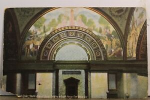 Indiana IN Fort Wayne Court House Dome Painting Postcard Old Vintage Card View