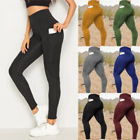 Women Sports Pants High Waist Yoga Fitness Leggings Push Up Running Gym Trousers
