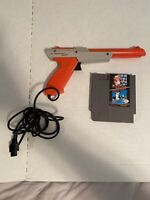 Nintendo NES Zapper Light Gun Plus Super Mario Bros Duck Hunt Game Cartridge