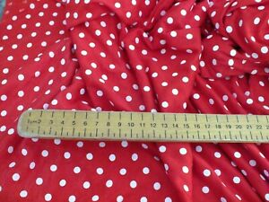 cotton jersey lycra  red and white spots