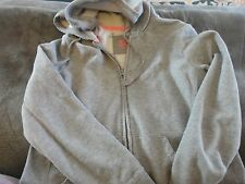 GIRLS SIZE LARGE SO BRAND GRAY ZIP UP HOODIE