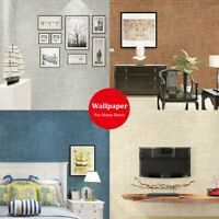 Refurbished PVC TV Background Wallpaper Linen Texture Self Adhesive Stickers