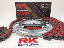 Red 2004-05 CBR1000rr RK GXW525 -1/+2 Quick Acceleration Chain and Sprocket Kit