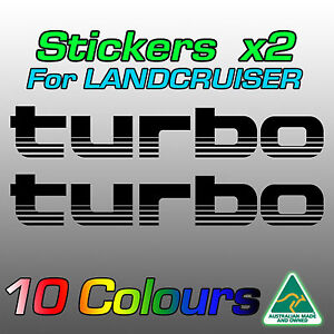 Stickers decals for Land Cruiser 100 series TURBO