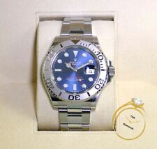 New Rolex Yachtmaster Blue Dial Platinum Bezel 126622 40mm Box Papers