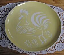"Harkerware Oven Proof YELLOW Rooster 10 1/8"" Plate  ~"