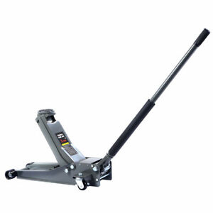 3Ton Low Profile Trolley Jack Hydraulic Car Floor Car Lifter Dual Pump HeavyDuty