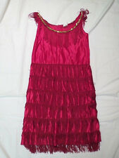 1920's Style FLASHY FLAPPER Costume for Adult Women Medium RED
