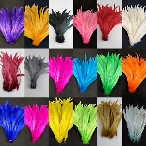 "20 pcs 12""-14 "", 14""-16""  Rooster Coque Tail Feathers for Crafting, Decoration"