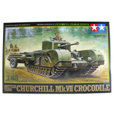 Tamiya British Tank Churchill Mk.VII Crocodile Model Set (Scale 1:48)
