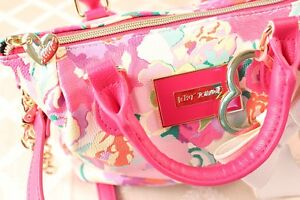 BETSEY JOHNSON [NWOT]:  Pink with Multi-Color Floral Handbag