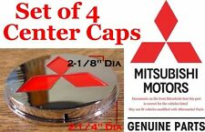 1995 1999 Mitsubishi Eclipse Aluminum Wheel Red Star Center Cap set of 4 NEW OEM