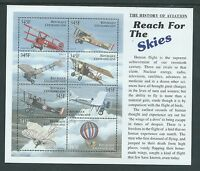 CENTRAL AFRICAN REPUBLIC HISTORY OF AVIATION MNH MINISHEET