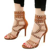 High Gladiator Sandals Heels Stilettos Big Size Summer Party Women Pumps shoes