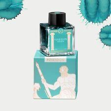 Laban Greek Mythology Bottled Ink for Fountain Pens in Poseidon Teal - 50ml NEW