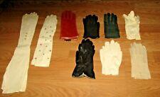 Vintage Ladies Gloves Mixed Lot Of 9 Pairs