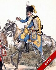 GERMAN HUSSAR CAVALRY HORSE SOLDIER OF 1700'S PAINTING REAL CANVASART PRINT