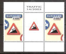 Suriname Zbl Nr 1213 in TB paar met tussenstrook    Postfris.