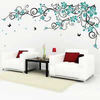 Playing Cats Butterfly Grass Vinyl Wall Stickers Wall Decals Wall Art Graphics