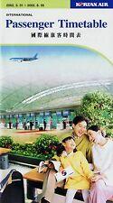Korean Air Timetable  March 31, 2002 =