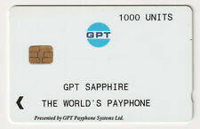 🇬🇧 UK 🇬🇧  -  GPT Sapphire The World's Payphone 1000U (Card No3)