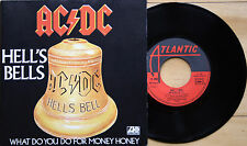 "EX/EX! AC/DC HELLS BELLS   7"" VINYL 45 RARE FRENCH JUKEBOX  P/S 11650"
