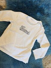 Orig. Gucci Baby Kinder T Shirt Bluse Top Langarm Weiss Gr. 24 Monate / 94 cm