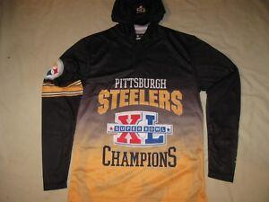 Klew Pittsburgh Steelers Shirt Men's Medium LS New W/Tags Super Bowl XL NFL