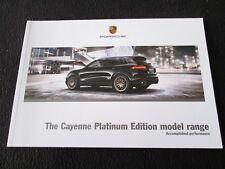 2018 2017 Porsche Cayenne Platinum Edition S E-Hybrid V6 Brochure Sales Catalog
