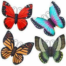 Metal Butterfly Wall Art, 4 Pack Wall Decor Sculpture, Hanging for Indoor &
