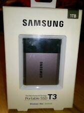 Samsung T3 MU-PT1T0B/EU 1TB USB 3.1 External Portable SSD- Windows/Mac/Android