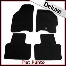 FIAT PUNTO Mk2/188 1999-2006 1300 G DI LUSSO SU MISURA TAPPETINI AUTO MOQUETTE NERA