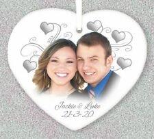 1st Anniversary Wedding Personalised Gift For Him Her Husband Wife Fiance Heart