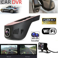 Wifi Dash Front Rear cam HD 1080p Dual Lens Car Hidden Camera DVR f. Android IOS