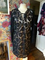 Ladies B Young Dress Black Lacy Size 14 RRP £49.99