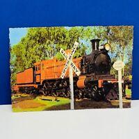 Postcard vintage post card ephemera Railway crossing train railroad australia