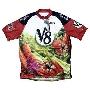 NWT Louis Garneau V8 Campbells Tomato Juice Cycling Shirt Jersey Men's Size 3XL