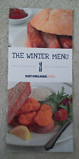 EAST MIDLANDS TRAINS WINTER MENU Dining Buffet Car Carriage BR British Railways
