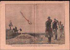 WWI Aircraft Avion SPAD Tombe Poilus Deutsches Heer War France 1915 ILLUSTRATION