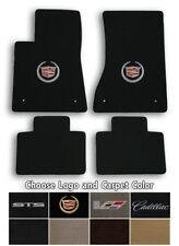 2005-2011 Cadillac STS 4pc Velourtex Carpet Floor Mat Set - Choose Color & Logo