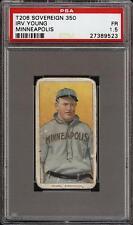 Rare 1909-11 T206 Irv Young Sovereign 350 Minneapolis Minor League PSA 1.5