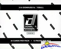 2019 Donruss Baseball MASSIVE Factory Sealed JUMBO FAT Pack Box-360 Cards-HOLOS