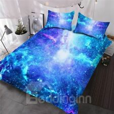 Twin Queen or King Size Quilt Set Bedspread Space Galaxy Dressing Bedding Quilt