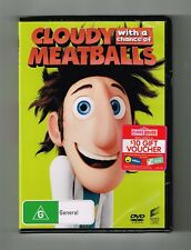 Cloudy With A Chance Of Meatballs Dvd Brand New & Sealed