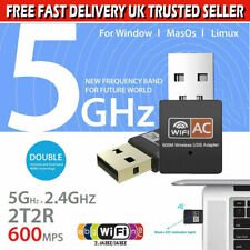 USB Dual Band Wifi Dongle 600Mbps 2.4GHz 802.11AC Wireless Network Adapter Mini