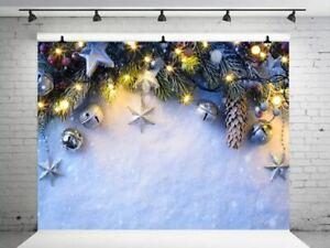 Photography Backdrops Christmas Snow Photo Gold Glitter Vinyl Background Studio