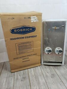 Bobrick Stainless Steel Double-Coin Operation Napkin/Tampon Vendor